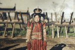 100年多前的老照片,蒙古公主亭亭玉立