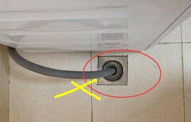 洗衣机排水口可以直接插入地漏吗?我当时没有