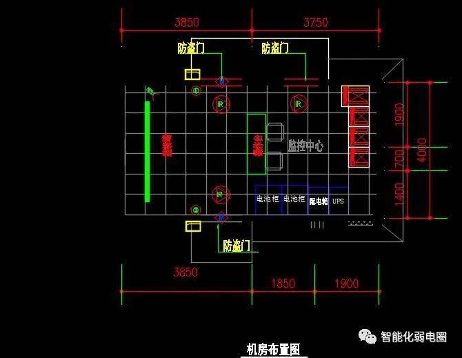 家用监控cad平面图例