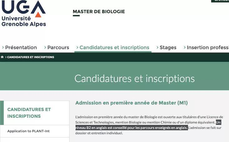 原创 法国留学  十级警告!公立大学不止是LEA需要英语成绩,还有....
