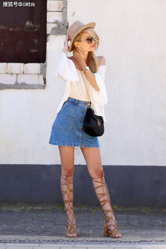 一到夏日就轮到牛仔裙闪亮登场了,承包你整个炎天的俏皮搭配