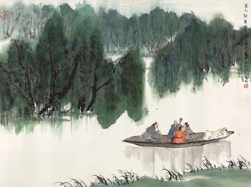 轻轻一小舟,荡出极美意境!