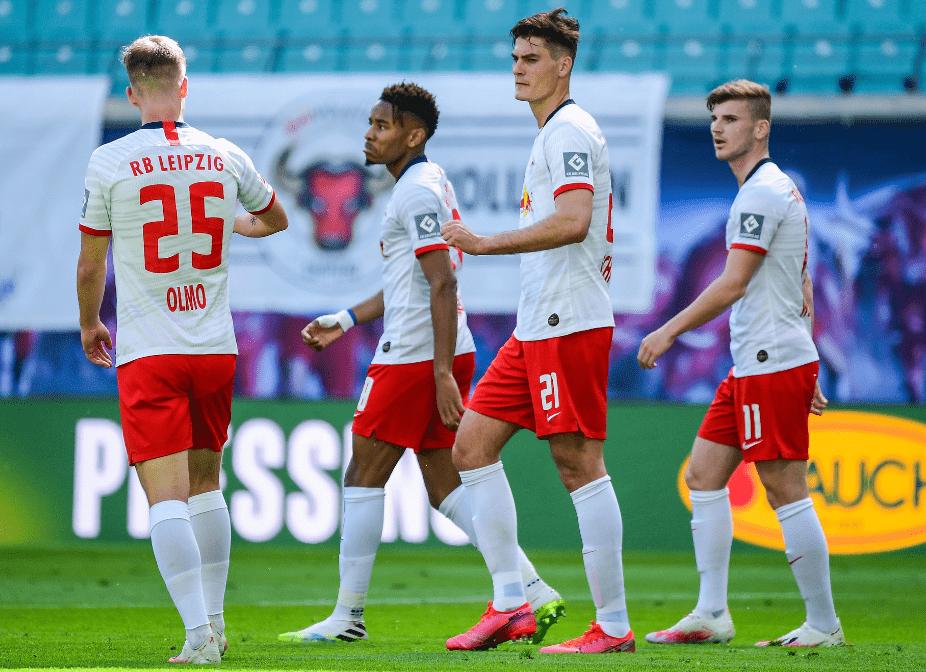 半场-维尔纳助攻锋霸建功铁闸被罚下 莱比锡客场1-0