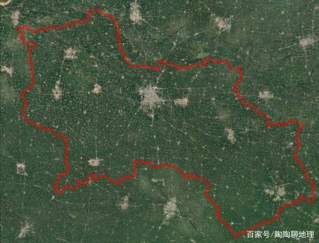 商丘市卫星地图图片