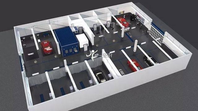 分享车库车间设计图和维修车间效果图
