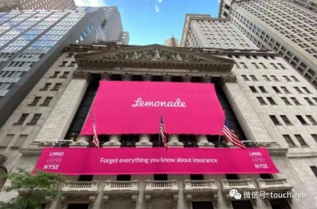 互联网保险公司Lemonade上市:涨139%市值38亿美元