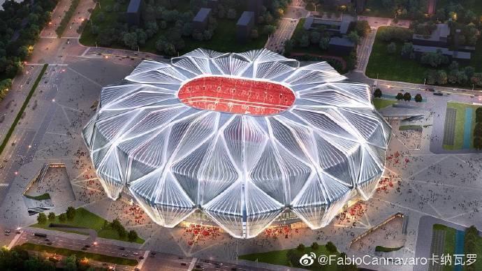 讲话真好听,卡帅盛赞恒大新球场,感谢恒大对中国足球作出贡献