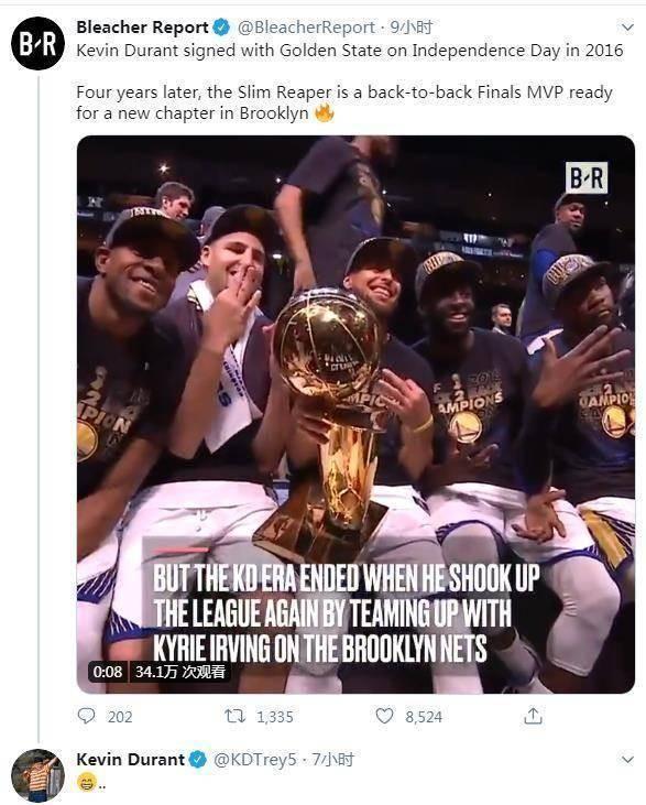 德佬一冠要強於你兩冠,投敵勇士四週年,網友群攻杜蘭特,KD逐一回懟不甘示弱!-黑特籃球-NBA新聞影音圖片分享社區