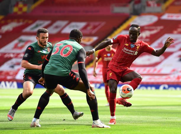 英超-马内破门 萨拉赫助攻新星获处子球利物浦2-0