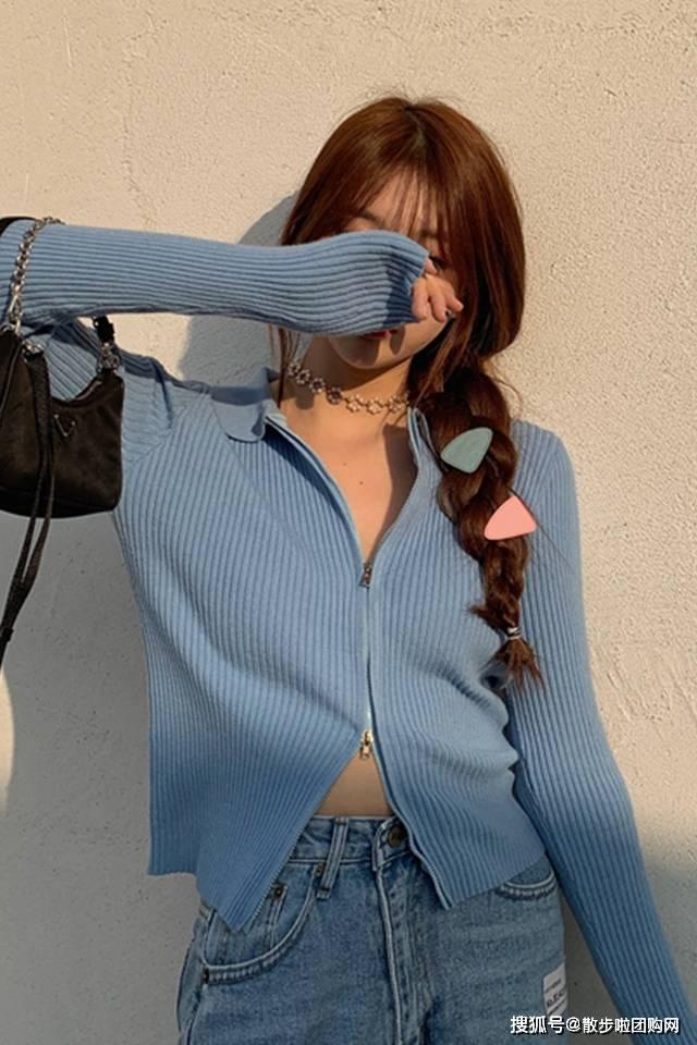 #针织衫#不仅能穿还超显瘦百搭~,夏天能穿针织衫吗?时髦精告诉你