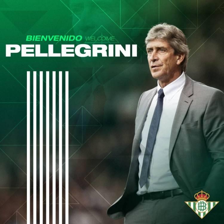 官方:佩莱格里尼出任贝蒂斯主帅 签约至2023年