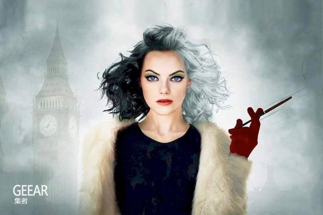邪恶和美貌的化身:艾玛·斯通发布扮演库伊拉预告海报!_影迷