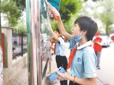 燕翔园社区联合长庆小学开展暑期实践进社区
