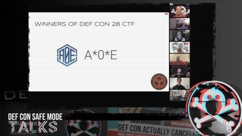 腾讯A*0*E联合战队斩获DEF CON CTF2020 决赛冠军,刷新中国战队新记录!