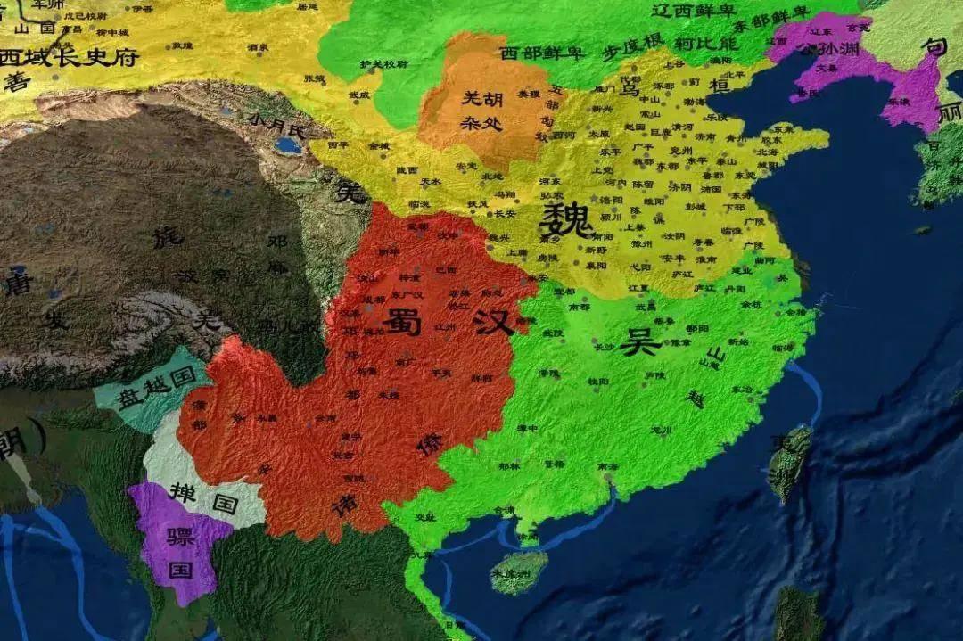 从地理上看三国,刘备想一统天下,难度堪
