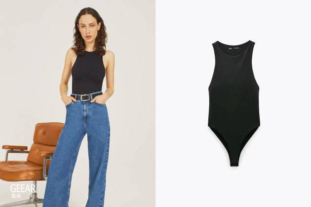 这5件Zara的女士连体紧身衣透过小细节展现性感心机!