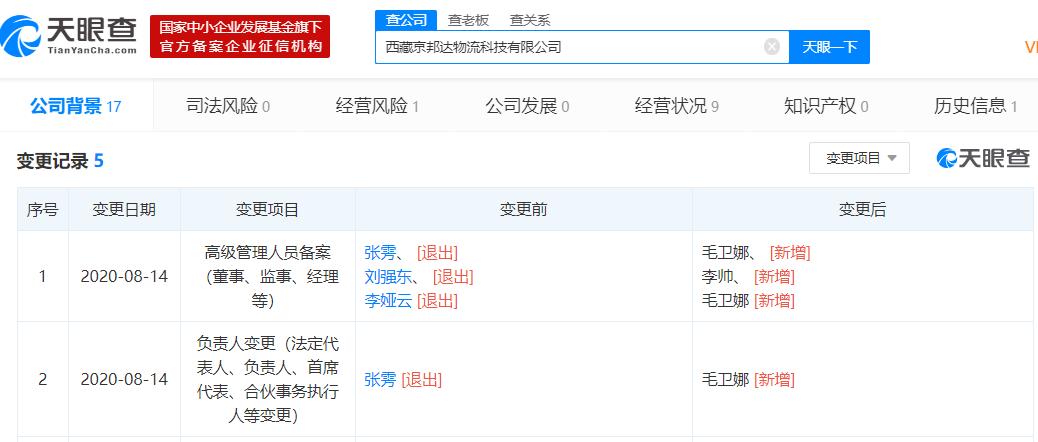 【8月以来,刘强东已退出多家京东关联公司高管职务】