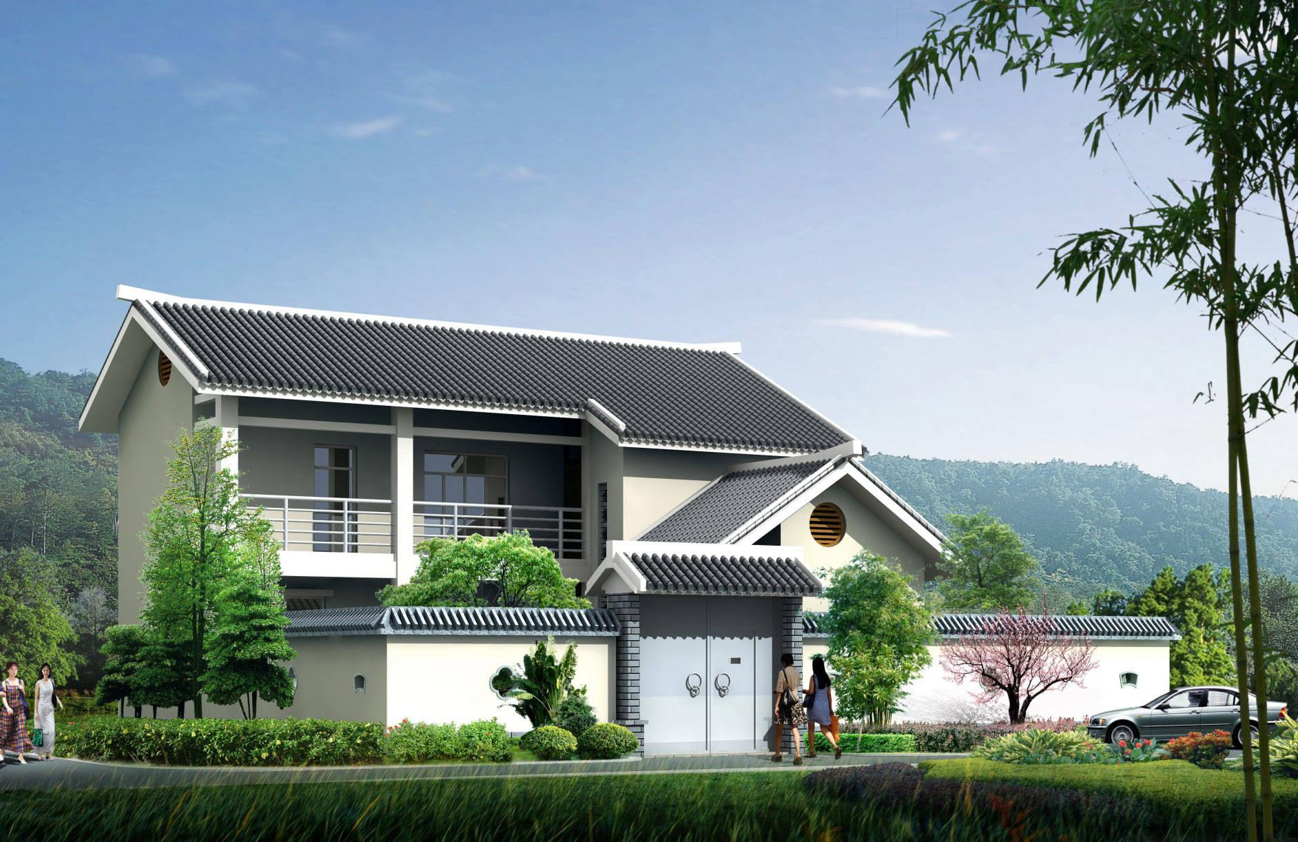 新农村自建房设计图纸cad全套 别墅一层三层二层联排效果图施工