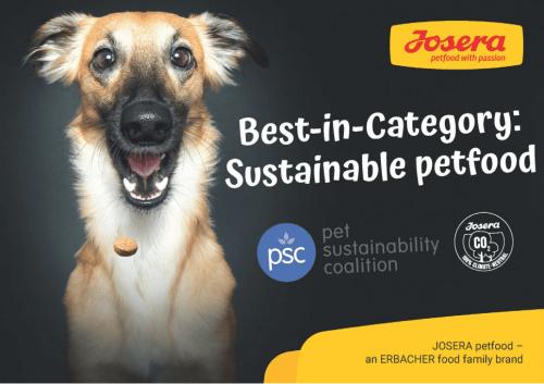 宠物可持续发展联盟:JOSERA被评为最佳品类