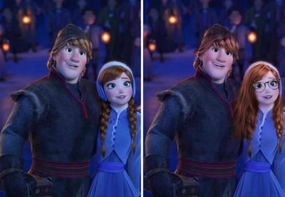 原创             假如给冰雪奇缘加上10级美颜,艾莎女王还好,安娜我感觉没法看