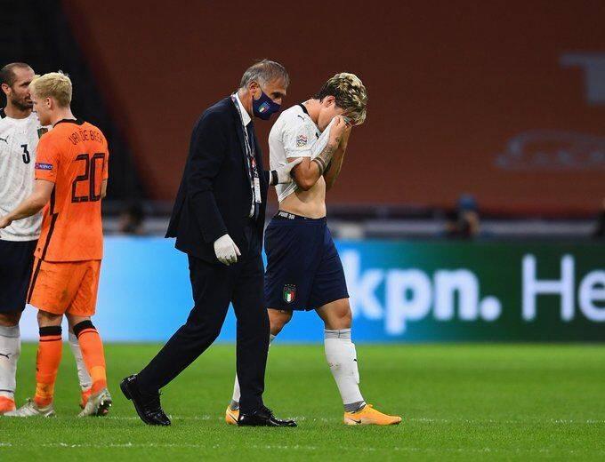 意大利客场1-0小胜荷兰 但意大利首发侵犯手
