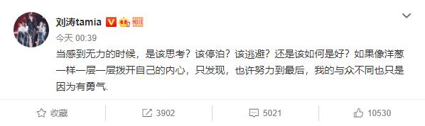 刘涛罕见吐露心声:我的与众不同只是因为有勇气