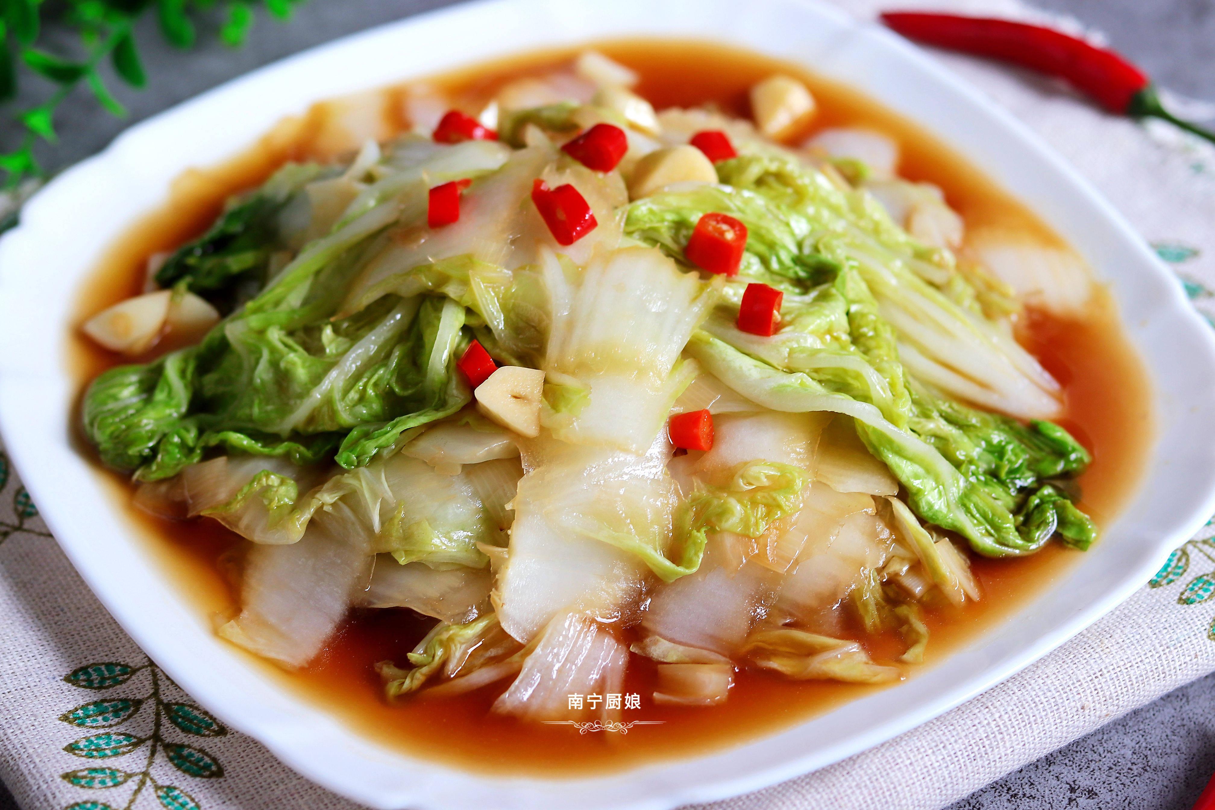 百吃不腻的白菜做法,3块钱做出一大盘,酸辣开胃,多吃2碗米饭