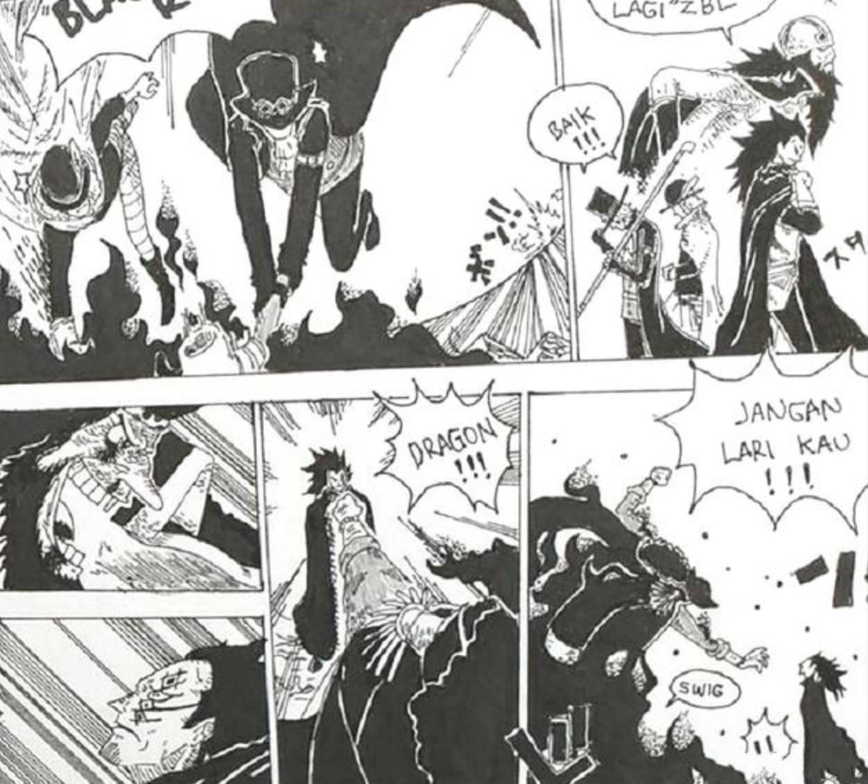 贴吧海贼王:黑胡子突袭革命军,却被龙一拳击败,实力相差巨大