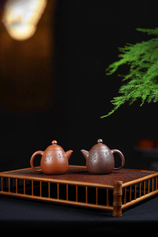 紫砂艺术丨范建军——《小龙旦套壶》