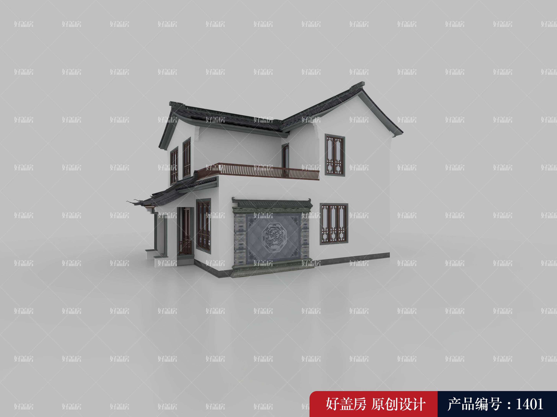 三间两层楼房设计图农村