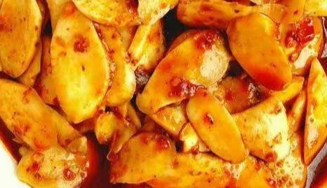 家常素菜,水煮杏鲍菇,看着就很有胃口,麻辣爽口,开胃下饭