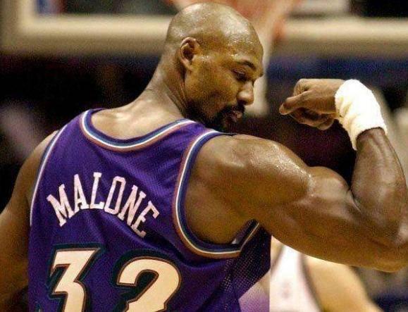 NBA身材完美,NBA选手,马龙的肌肉最有活力,詹