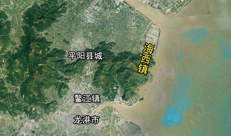 浙江平阳县是最东边的小镇,位于平原山