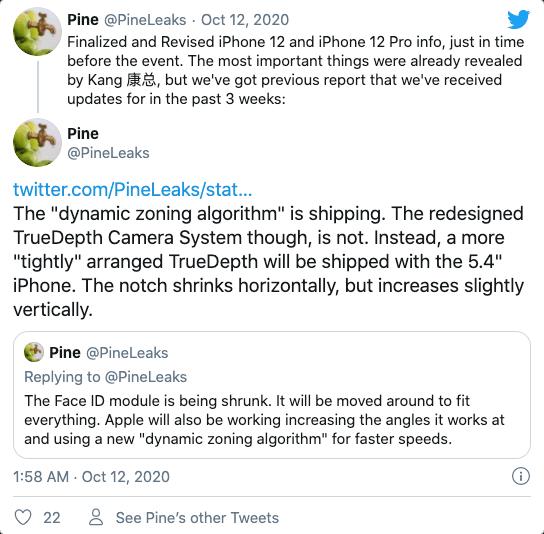 【消息称iPhone12 mini续航或比iPhone11差,刘海更窄】