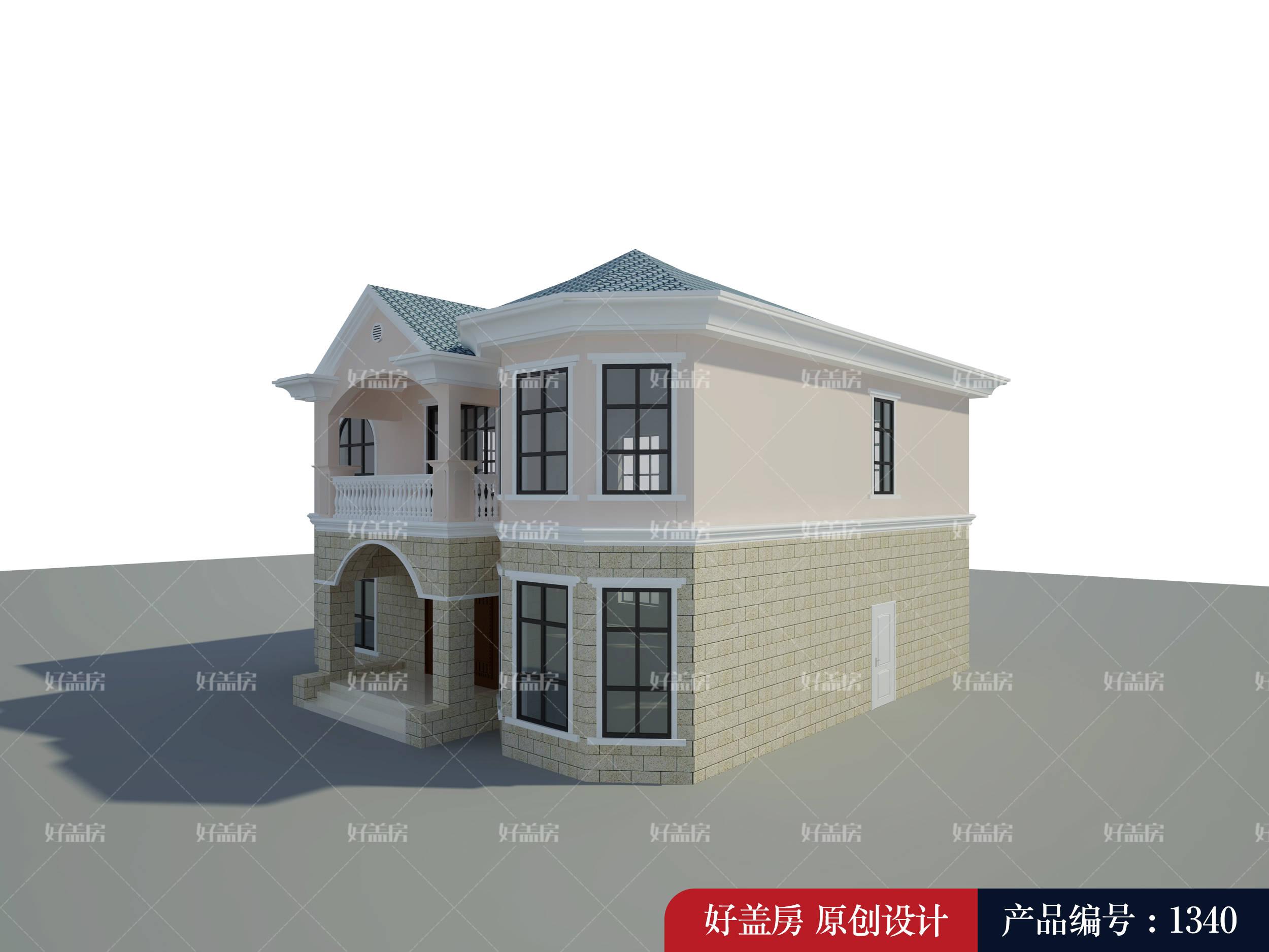 农村一层半楼房设计图