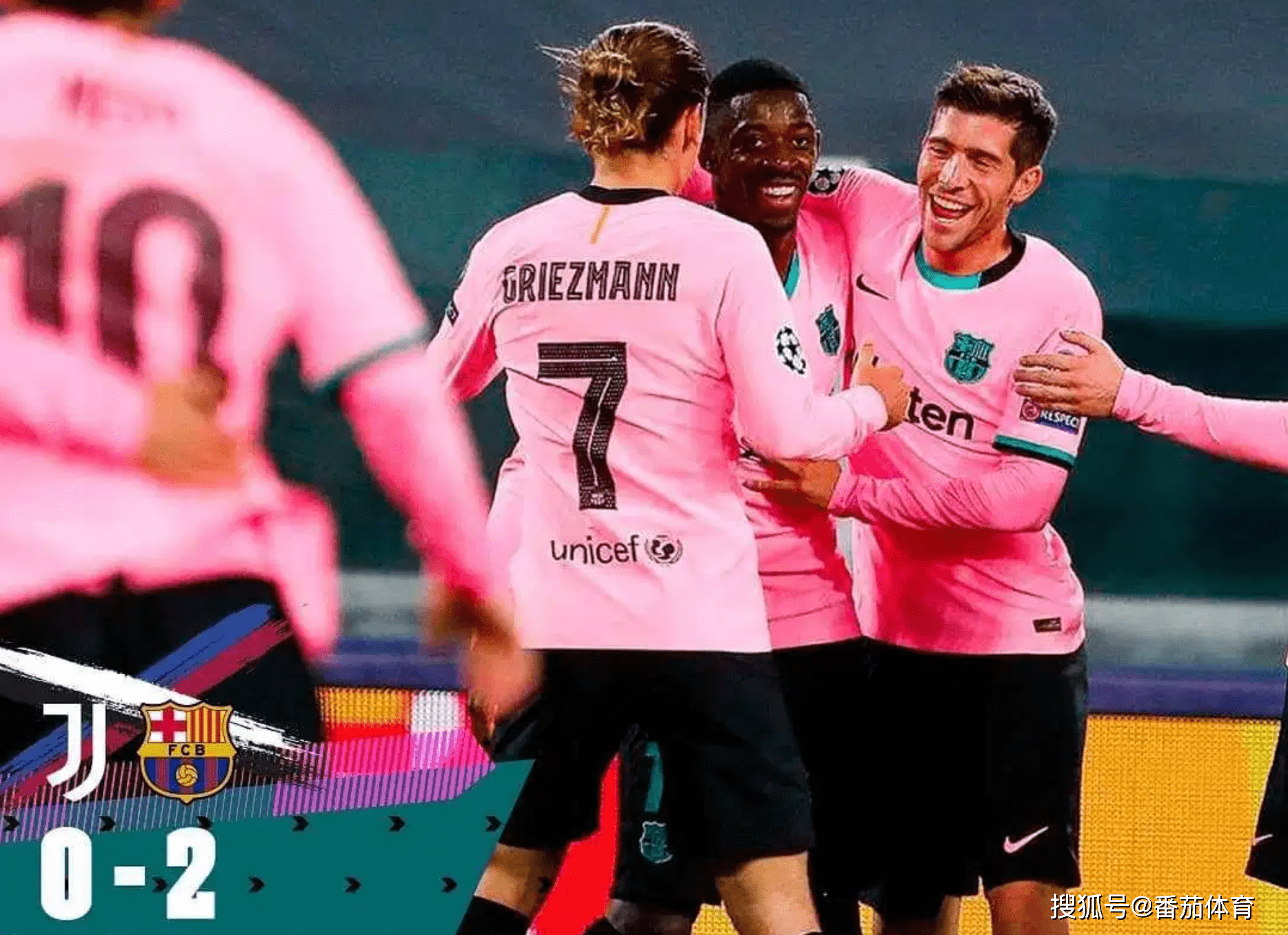 「欧冠杯」莫拉塔3进球有效尤文图斯负巴塞罗那