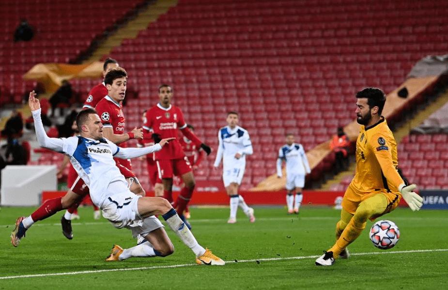 欧冠-戈麦斯助伊利契奇破门利物浦0-2亚特兰年夜