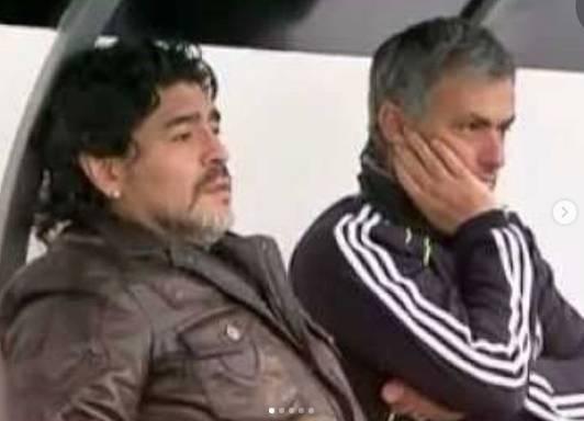 穆里尼奥发文悼念马拉多纳:迭戈!我真的很想你