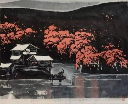 被鸠山由纪夫收藏的山水田园画——林敦席诗情山水画艺术