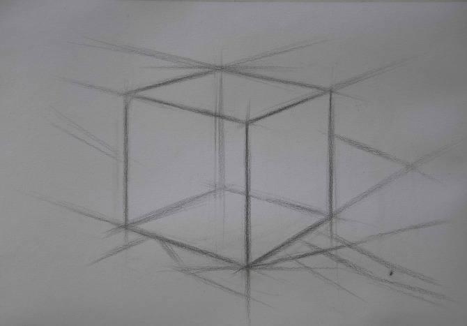 素描石膏像正方体如何画?怎么画好素描正方体? 教学教程-第3张