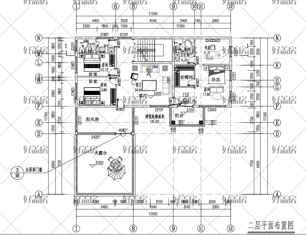 两层别墅设计图平面图