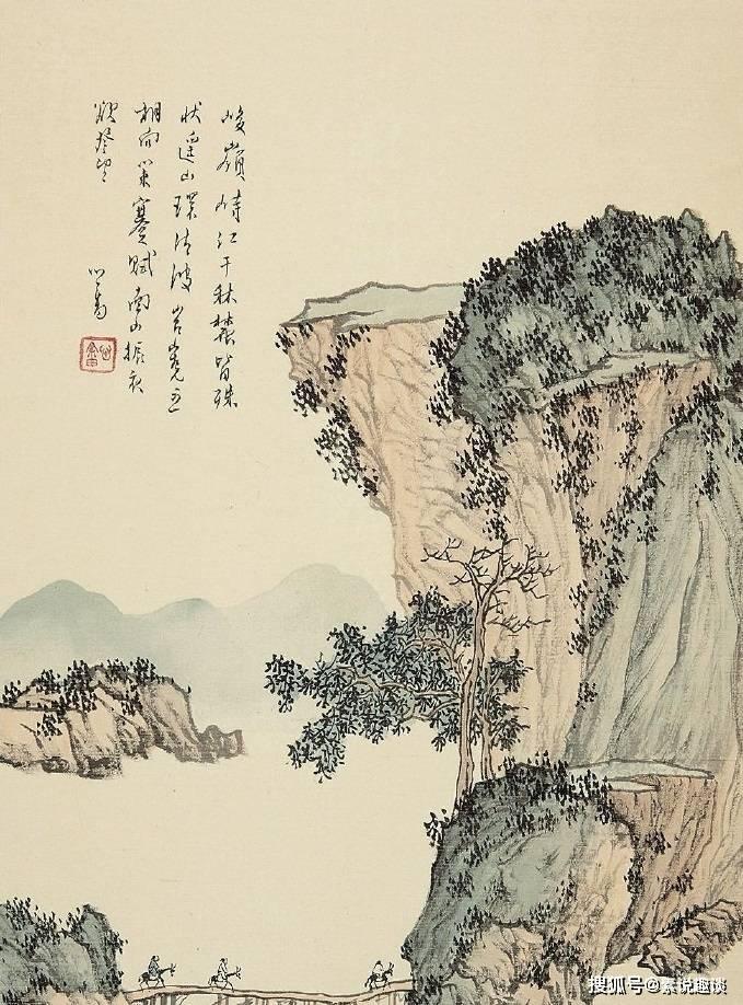 溥儒绘画大器晚成,寄情山水有画必有诗,风格不输张大千