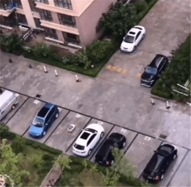 """一辆玩具""""保时捷""""停在小区的停车位上。车位值15万,车只值4位数"""