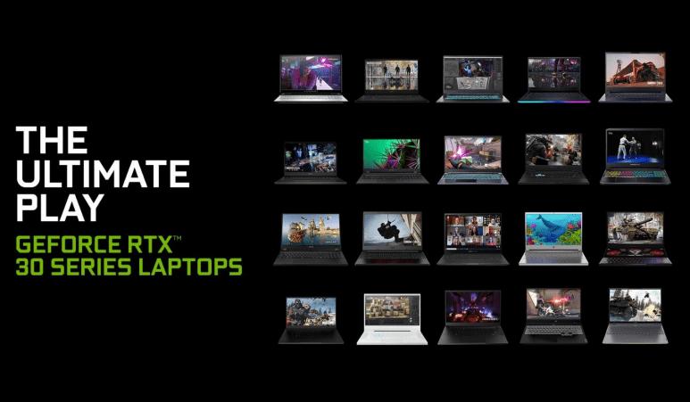 70+款采用NVIDIA Ampere架构的全新GeForce RTX笔记本电脑发布