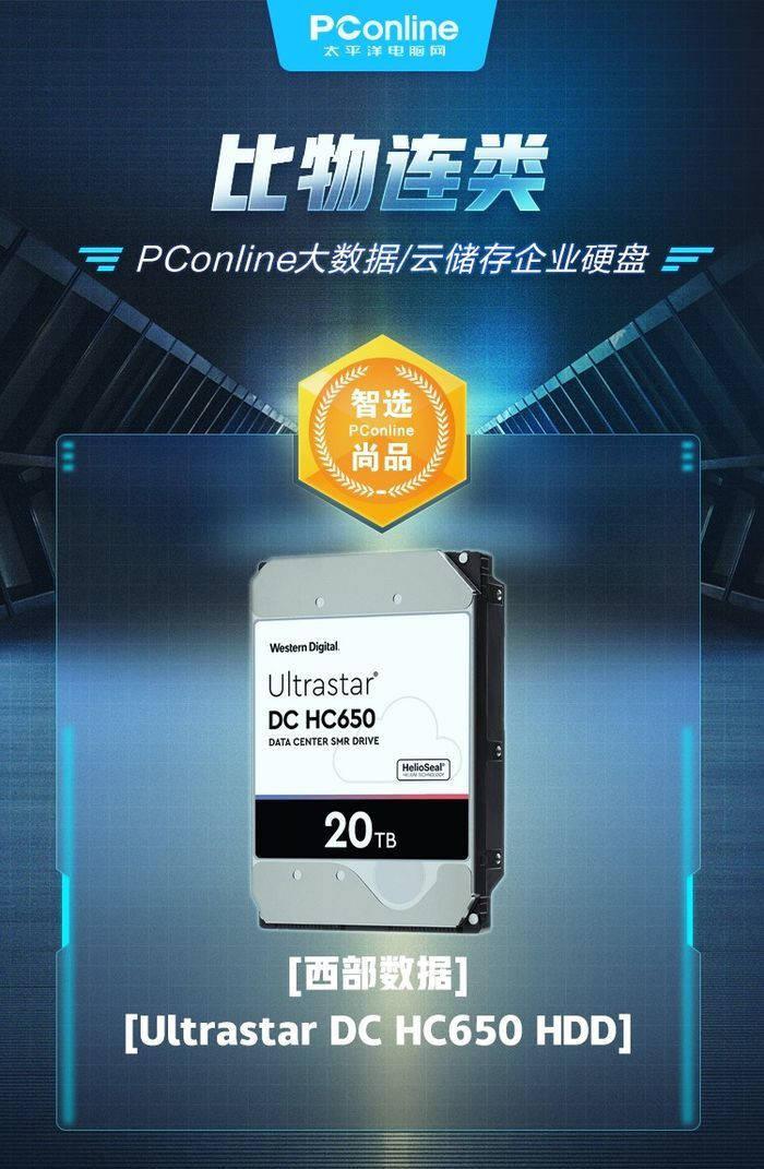 西部数据Ultrastar HC650 HDD获企业硬盘奖