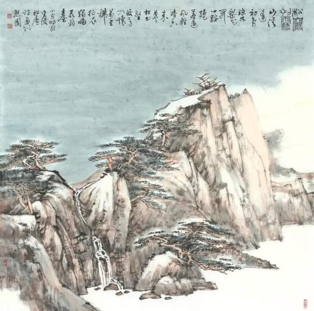"""中国艺术家杨昌刚、张煜宝""""二十四节气之小雪""""作品在纽约时代广场展播"""