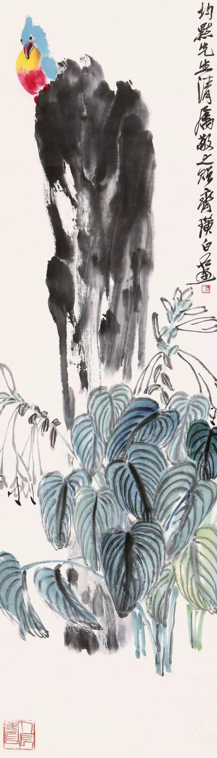 齐白石画的这幅笼外鹦鹉图,送给了一个叫淑华的女子.图片