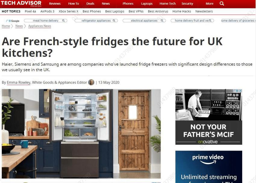 英媒英国人如何选冰箱?英媒:推荐海尔新款冰箱