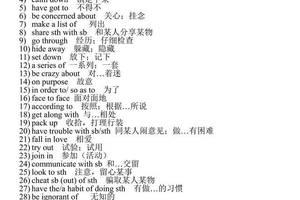 高中英語「必修1 - 選修8」固定搭配&詞組集錦!狂甩學霸9條街