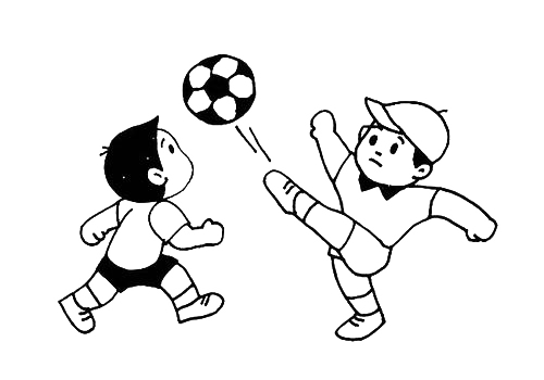 踢足球的小孩简笔画,人物简笔画,人物动作简笔画,小男孩踢足球的简单画法.